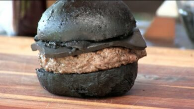 Photo of BK's Kuro Burger Recipe! (Black Cheeseburger!)