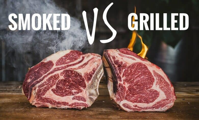 smoked vs grilled steak